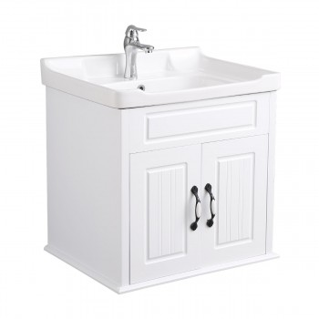 Bathroom Sink Cabinet Wall Mount White MDF KD Package22221grid
