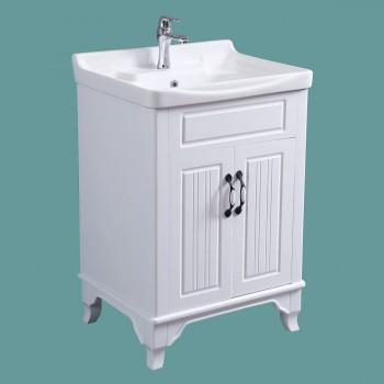<PRE>Bathroom Cabinet Vanity Sink White Vitreous China Freestanding</PRE>