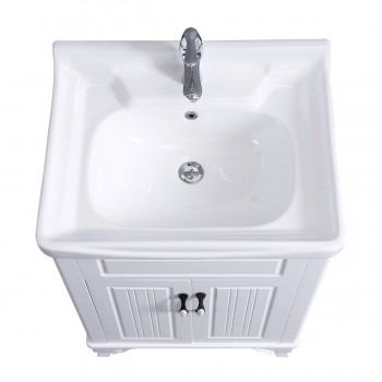 <PRE>Bathroom Cabinet Vanity Sink White Vitreous China Freestanding</PRE>zoom5