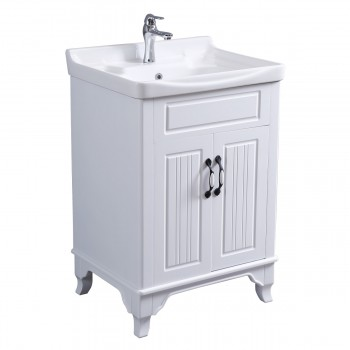 Bathroom Cabinet Vanity Sink White Vitreous China Freestanding22223grid