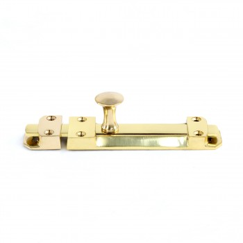Slide Bolt Latch Solid Brass 6 Lacquered Finish Brass Slide Bolt Slide Lock For Door Gold Slide Latch Lock