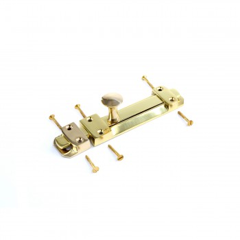 Slide Bolt Latch Solid Brass 6 Lacquered Finish