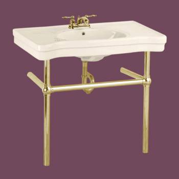 <PRE>Bone Console Sink China Belle Epoque with Brass Bistro Legs</PRE>zoom2