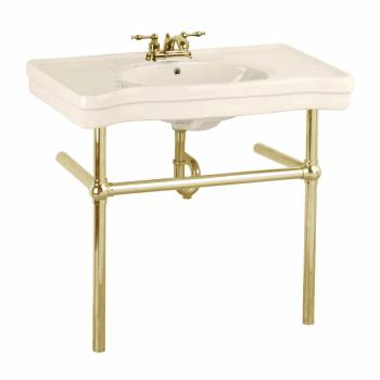 <PRE>Bone Console Sink China Belle Epoque with Brass Bistro Legs</PRE>zoom1
