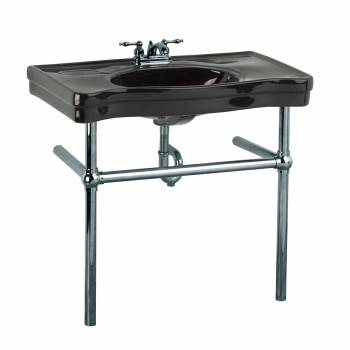 Black Console Sink China Belle Epoque with Black Nickel Legs22257grid