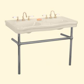 <PRE>Bone Console Sink Double Deluxe with Black Nickel Bistro Legs</PRE>zoom2