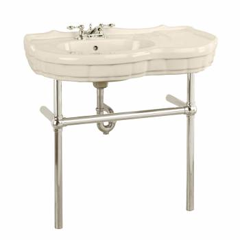 Bone Console Sink Southern Belle with Satin Nickel Bistro Legs22276grid