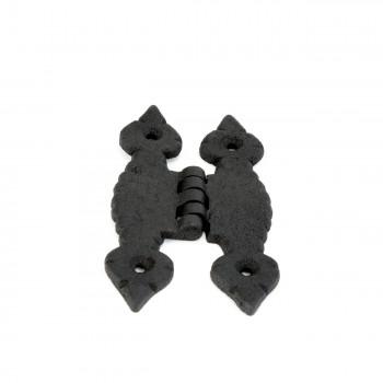 <PRE>Cabinet H Hinge Hardware Black Iron Quad Spear Design Screws Included</PRE>zoom3
