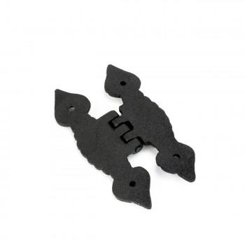 <PRE>Cabinet H Hinge Hardware Black Iron Quad Spear Design Screws Included</PRE>zoom7