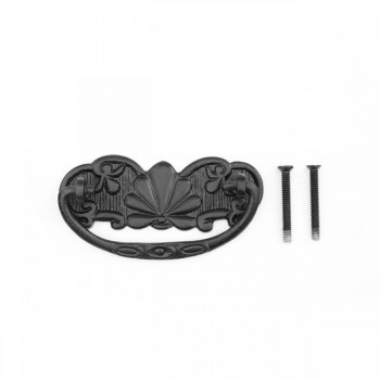 Solid Brass Scalloped Bail Pull With Black Powder Coat Finish Furniture Hardware Cabinet Pull Cabinet Hardware