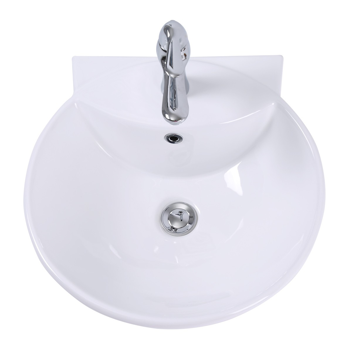 White WallMount Small Sink Easy Clean and Install with pop up drain and single bathroom vessel sinks Countertop vessel sink Small Unique Cute Space Saving Sink