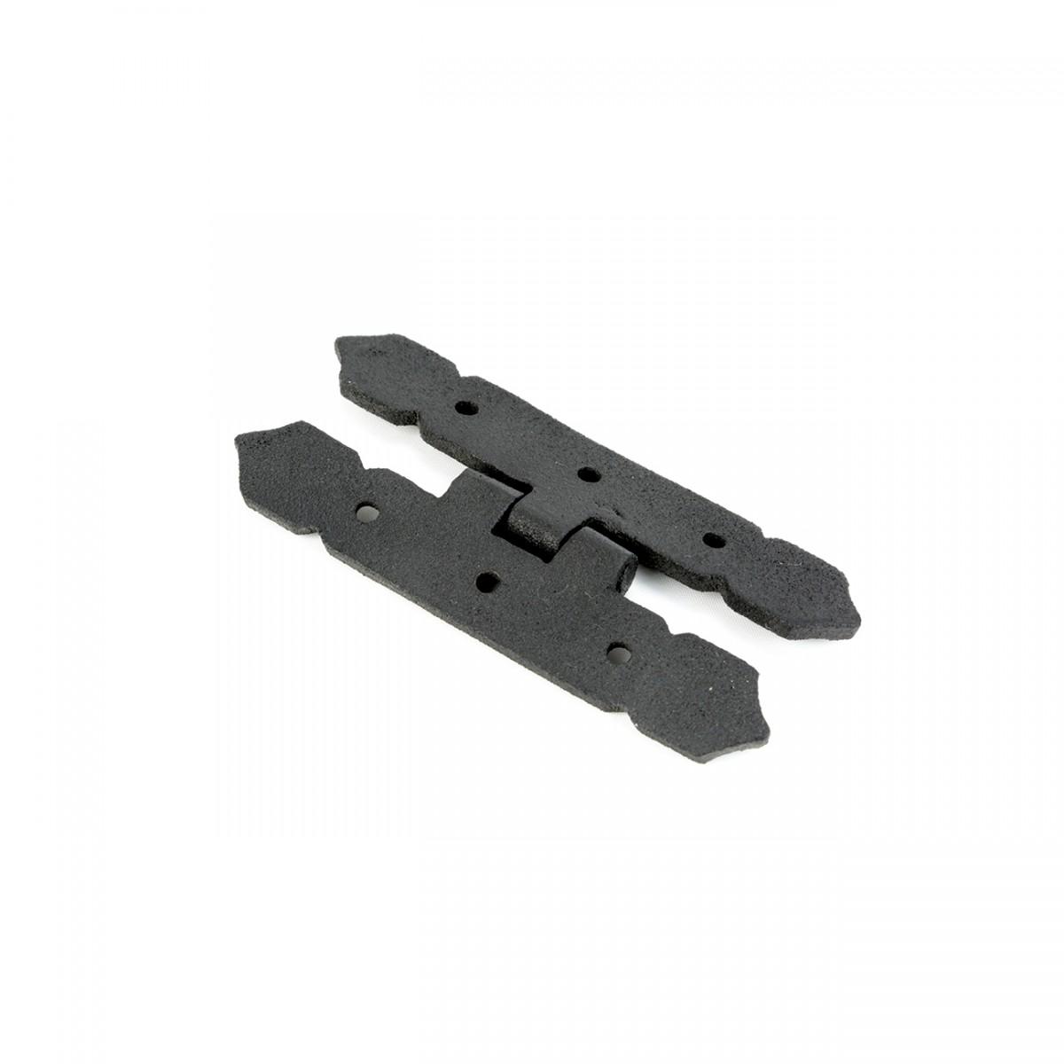 Cabinet H Hinge Black Iron Spear Tip 4 H Screws Included Black Iron Spear Tip Hinge 4 H Hinge Cabinet Hardware Wrought Iron Cabinet Hinge