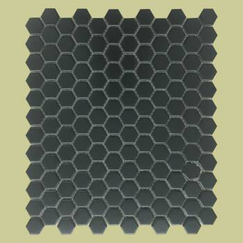"spec-<PRE>Black Matte Porcelain Mosaic Hexagon Floor and Wall Tile 1 Sheet 10.25"" x 11.8""</PRE>"