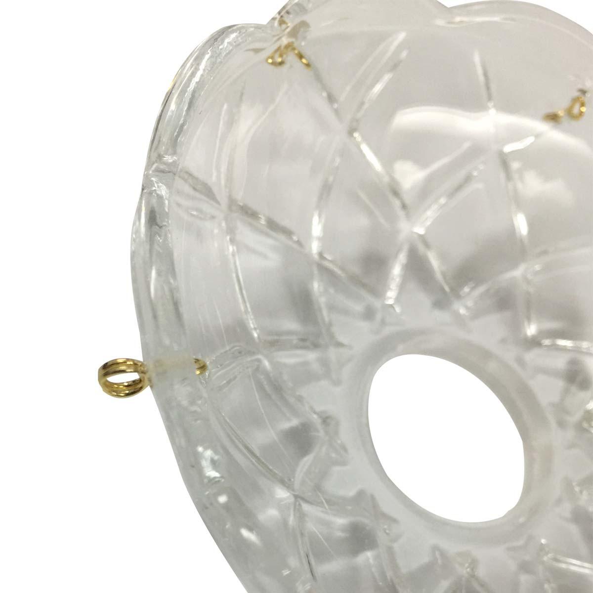 Vintage Bobeche Clear Crystal 6 Prism Hole Scallop 4 D Bobeches Bobeche Crystal Bobeche