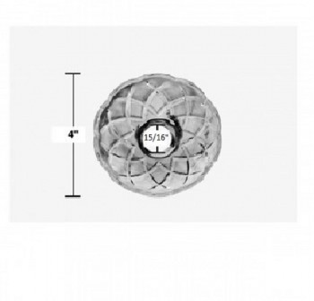 "spec-<PRE>Vintage Bobeche Clear Crystal 6 Prism Hole Scallop 4"" D </PRE>"