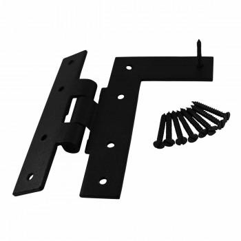 Offset HL Cabinet Hinge Black Iron Right 4 H Wrought Iron Door Hinges Black Door Hinges Rustproof Cabinet Hinges