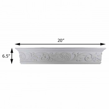 "spec-<PRE>Cornice White Urethane Sample of 12368 20"" </PRE>"