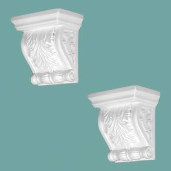 2 Victorian Wall Fireplace Corbel White Urethane Vintage Set of 2 Corbel Corbels Urethane Corbel