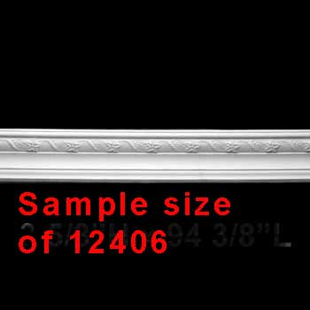 spec-<PRE>Cornice White Urethane Sample of 12406 24&quot; </PRE>
