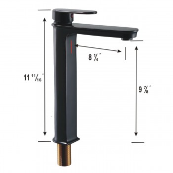 spec-<PRE>Oil Rubbed Bronze Bathroom Faucet Tall Single Hole Plank Modern Design Heavy Duty</PRE>