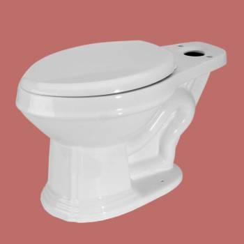 Troyt Corner 2-Piece 0.8 GPF/1.6 GPF WaterSense Dual Flush Round Toilet Bowl Only