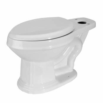 Troyt Corner 2-Piece 0.8 GPF/1.6 GPF WaterSense Dual Flush Round Toilet Bowl Onl22423grid