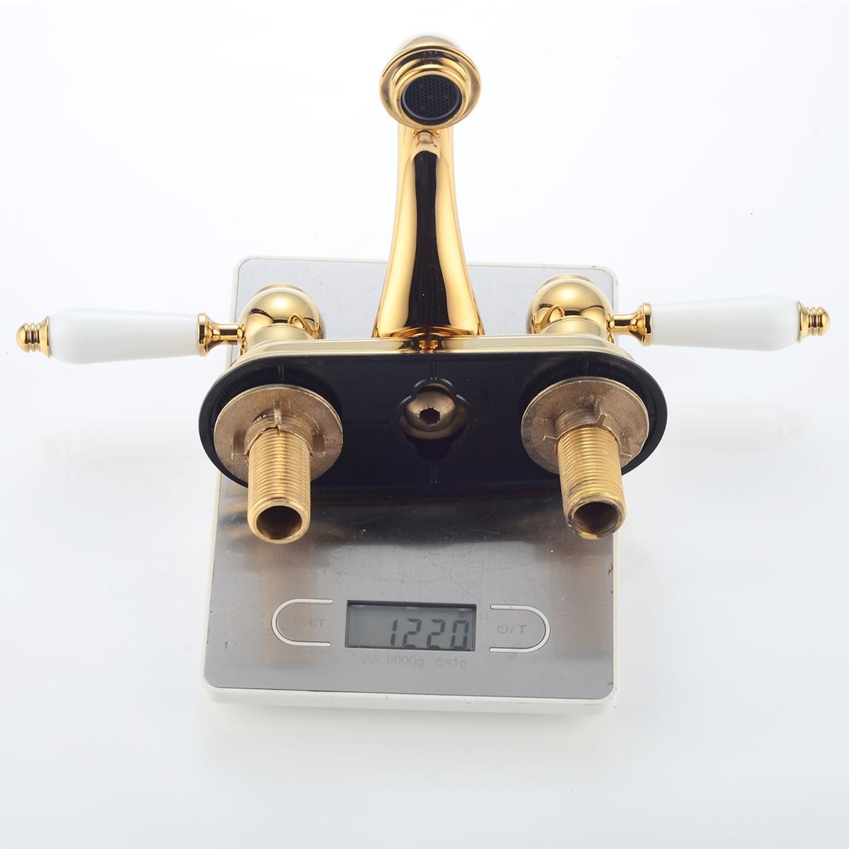Brass Centset Bathroom Sink Faucet La Bella Design Includes Supply Lines Centerset Faucet Center set Faucet Bathroom 4 Sink Faucet