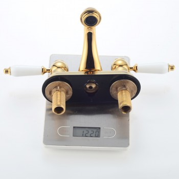 <PRE>4inch Center Set Bathroom Sink Faucet Classic Brass PVD</PRE>zoom5