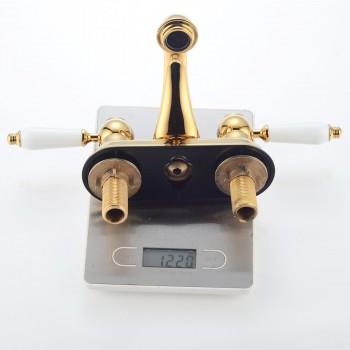 <PRE>4inch Center Set Bathroom Sink Faucet Classic Brass PVD</PRE>zoom3