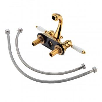<PRE>4inch Center Set Bathroom Sink Faucet Classic Brass PVD</PRE>zoom4