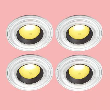 "<PRE>4 Spot Light Ring White Trim 6.5inch ID x 10""OD Mini Medallion </PRE>zoom2"