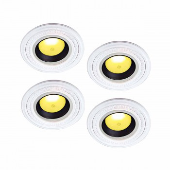<PRE>4 Spotlight Trim Medallions White Urethane 6-1/2inch ID Set of 4 </PRE>zoom1