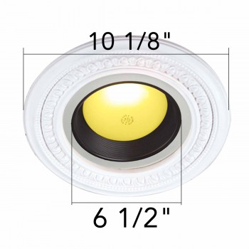 spec-<PRE>4 Spotlight Trim Medallions White Urethane 6-1/2&quot; ID Set of 4 </PRE>