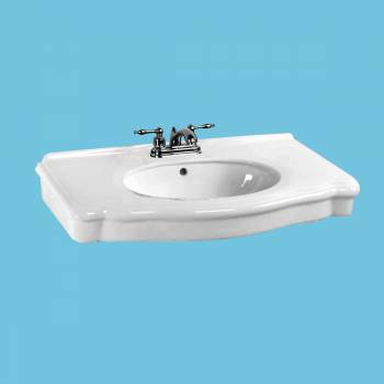 <PRE>White Bathroom Console Sink Basin Only 4inch Centerset </PRE>zoom2
