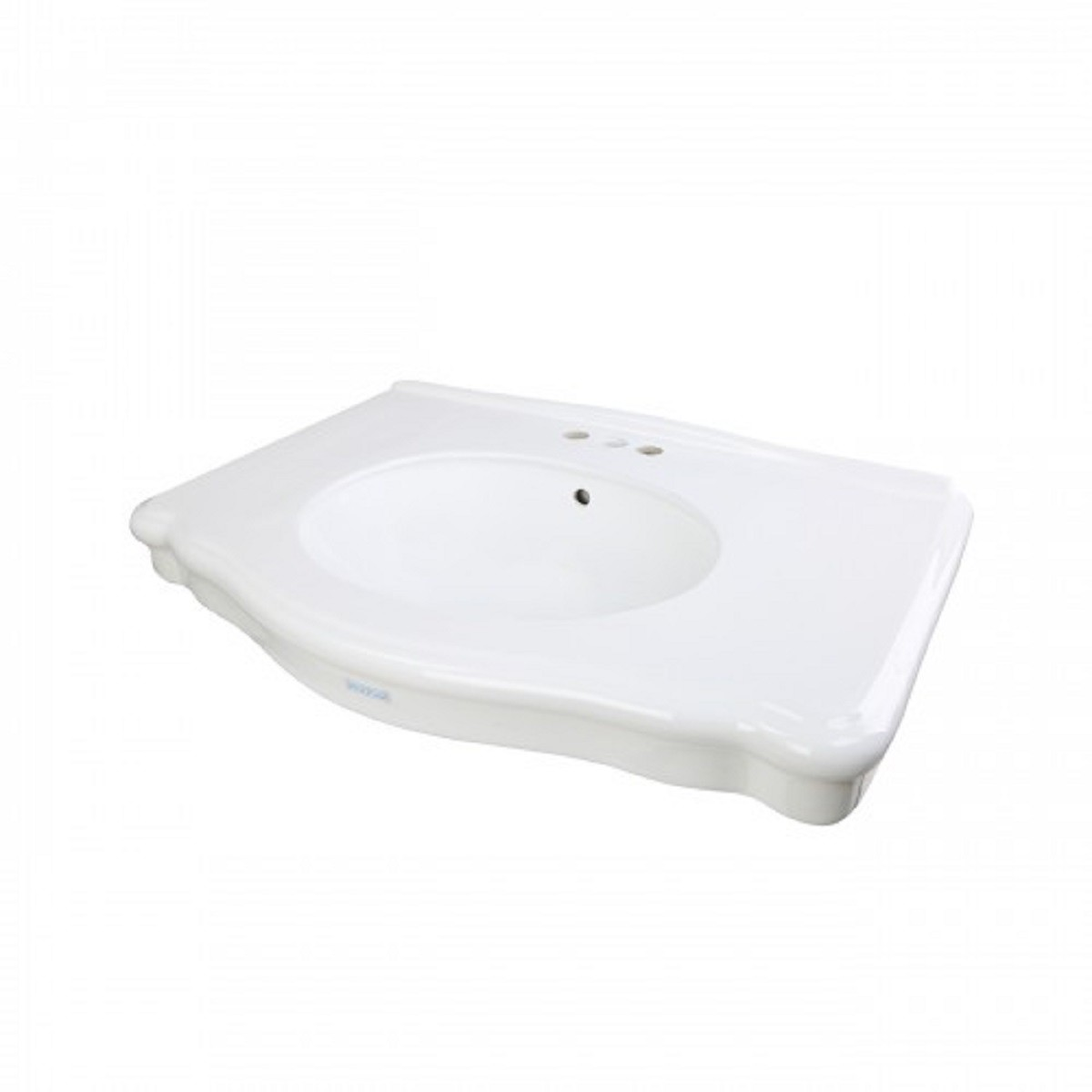 White Bathroom Console Sink Basin Only 4 Centerset Porcelain Double Console Sink Glossy Console Sinks Centerset Bathroom Console Sink