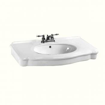 White Bathroom Console Sink Basin Only 4