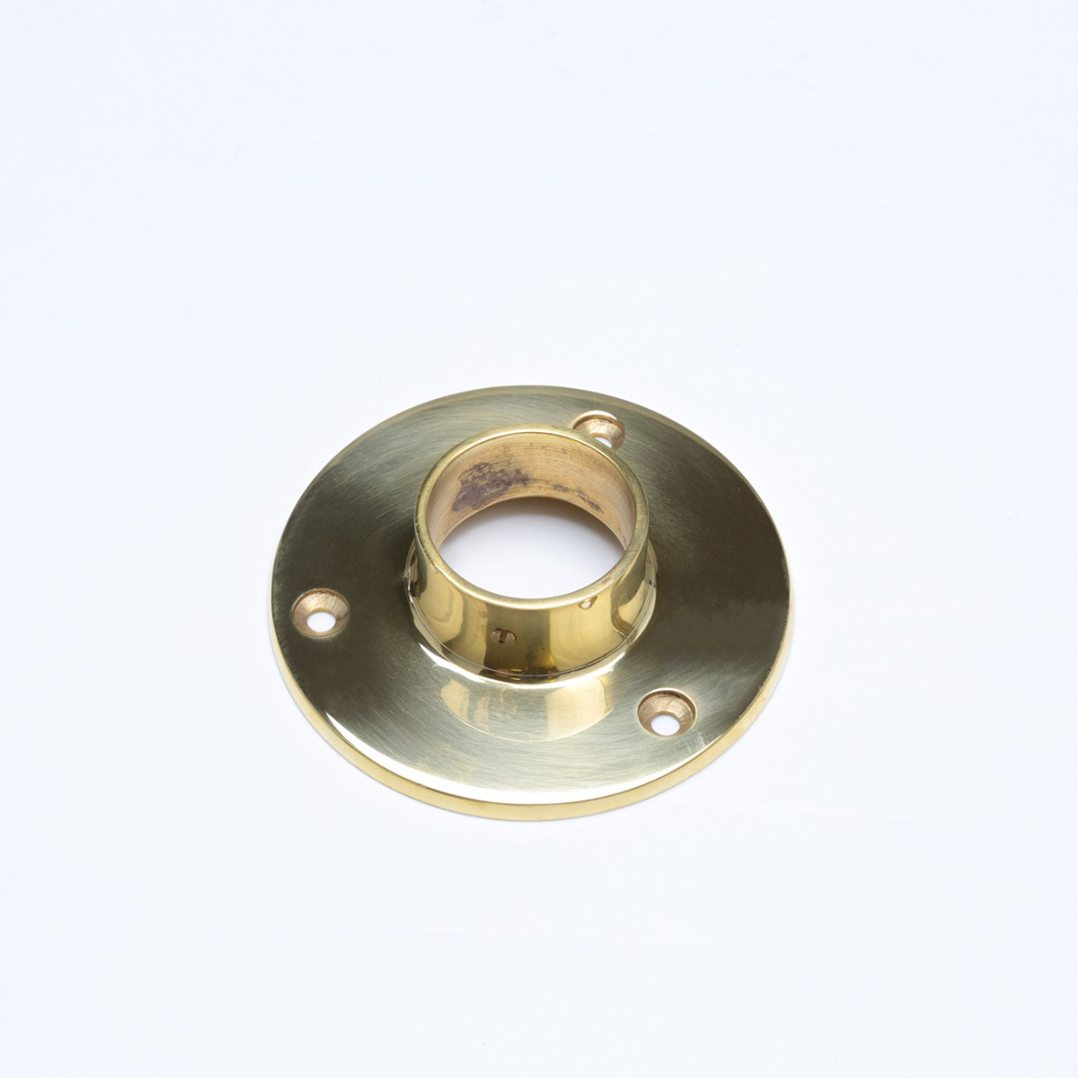 Bar Bracket Polished Solid Brass 4 Flange Fit 1.5 Tube Bar Bracket Bar Hardware Mounting Brackets
