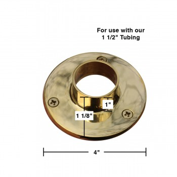 "spec-<PRE>Bar Bracket Polished Solid Brass 4"" Flange Fit 1.5"" Tube </PRE>"