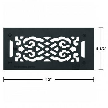 spec-<PRE>Floor Heat Register Louver Vent Cast 4&quot; x 10&quot; Duct </PRE>
