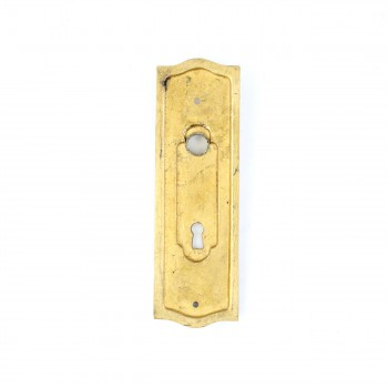 <PRE>Door Back Plate Solid Brass Beaded With Keyhole 7 1/4inch H </PRE>zoom7