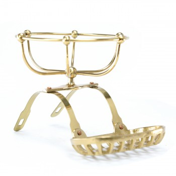Roll Top Tub Caddy Brass
