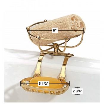 spec-<PRE>Vintage Clawfoot Tub Soap Dish Sponge Holder Brass Vintage Brass Finish</PRE>