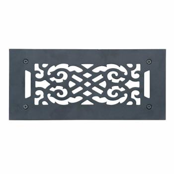 Heat Air Grille Cast Victorian Overall 5 1/2 x 12 23016grid