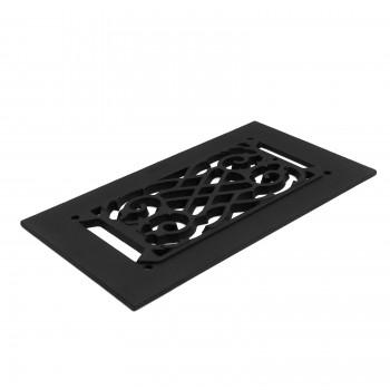 Heat Air Vent Grille Cast Aluminum Victorian 5.5 x 10 Overall Heat Register Floor Register Wall Registers