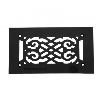 "<PRE>Heat Air Vent Grille Cast Aluminum Victorian 5.5inch x 10"" Overall </PRE>zoom1"