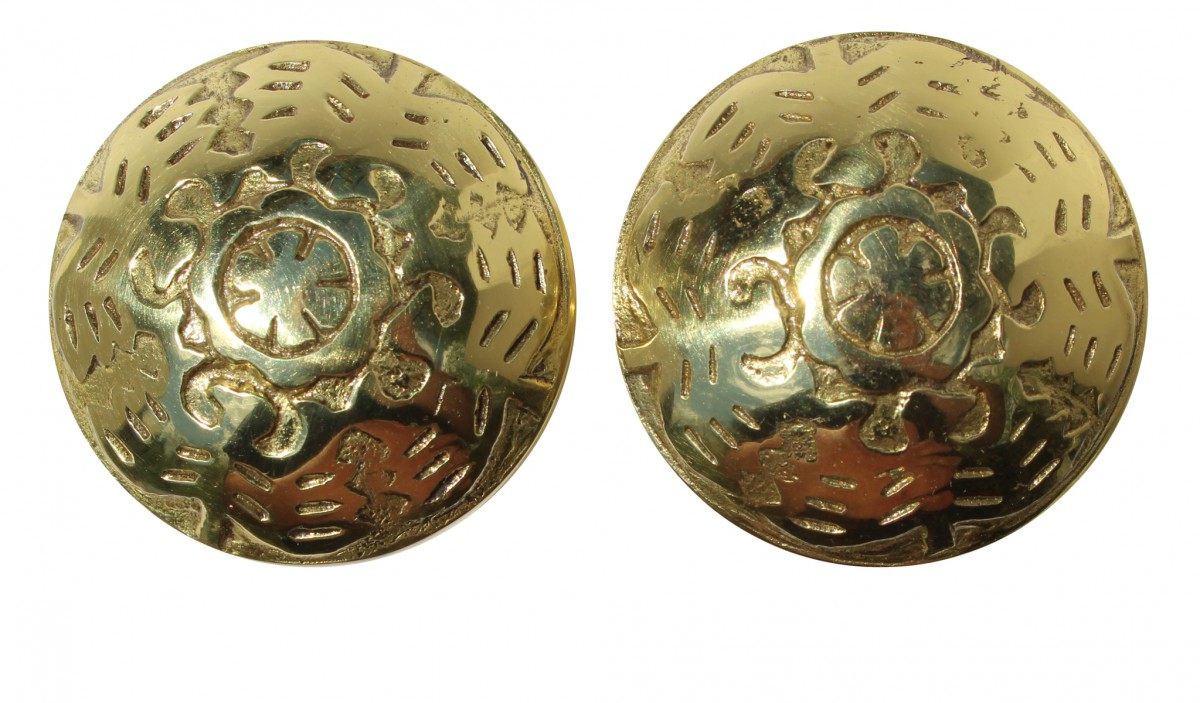 Pair Vintage Winged Solid Brass Door Knob 2 Brass Shanks Door Knob Brass Modern Door Knobs Door Knobs Gold Color
