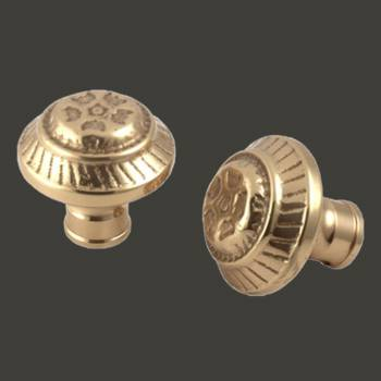 <PRE>Pair Vintage Dots Solid Brass Door Knob 2inch  Brass Shanks </PRE>zoom2