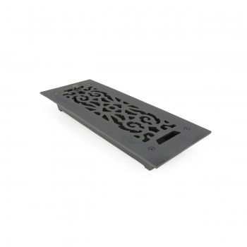 "<PRE>Floor Heat Register Louver Vent Victorian Cast 4inch x 12"" Duct </PRE>zoom7"