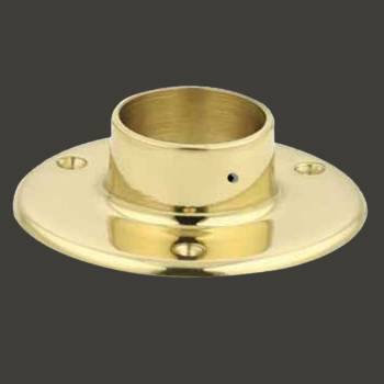 "<PRE>Solid Brass 5inch Flange Fitting 2"" OD Bar Foot Rail </PRE>zoom2"
