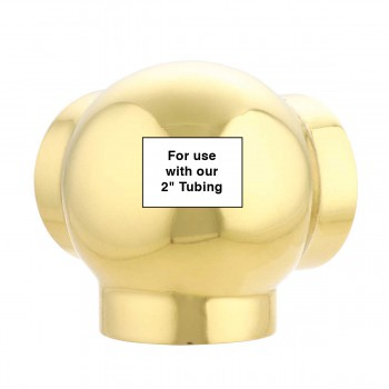 "spec-<PRE>Ball Side Outlet Y Fitting 2"" OD Bar Rail Bright Brass </PRE>"